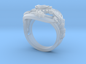 Botanica Mechanicum Ring SIZE 6 in Smooth Fine Detail Plastic
