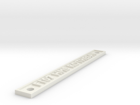 F107 HMS ROTHESAY in White Natural Versatile Plastic