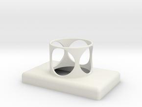 Stop Button Shroud MPH No Holes in White Natural Versatile Plastic