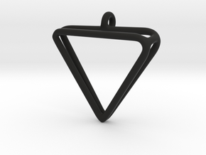 2Triangles Pendant in Black Natural Versatile Plastic: Large