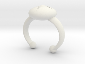 Flower Bud Cuff Bracelet 40 mm #1 in White Strong & Flexible