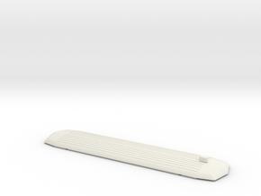 Skinnebus Tag Uden lygte. Spor 0 in White Natural Versatile Plastic