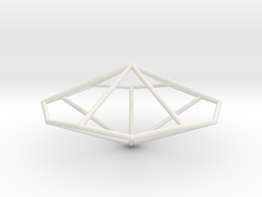 HexagonalTrapezohedron 70mm in White Natural Versatile Plastic