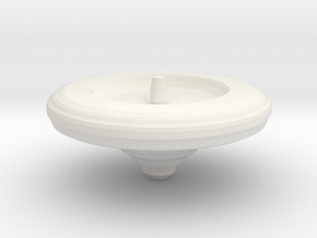 Large Spinning Top in White Natural Versatile Plastic