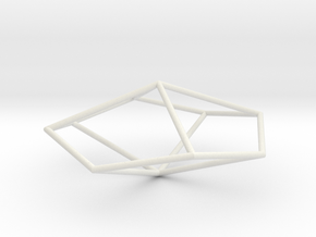 TetragonalTrapezohedron 70mm in White Strong & Flexible