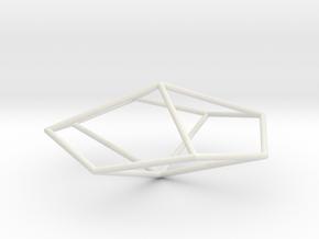TetragonalTrapezohedron 70mm in White Strong & Flexible