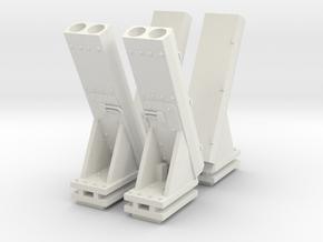 1:96 MK53 NULKA Chaff Launcher - set of 4 in White Natural Versatile Plastic