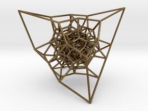 Inversion of a diamond lattice in Natural Bronze