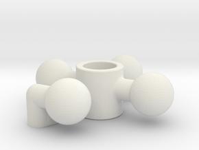 Steering Hub in White Natural Versatile Plastic