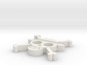 One Piece Pendant in White Natural Versatile Plastic