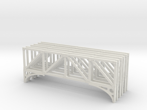 T1 79 Truss X 6 Scaled in White Natural Versatile Plastic