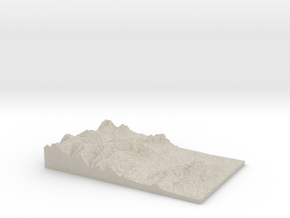 Model of Wellington in Sandstone