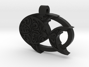 Piranha Pendant in Black Strong & Flexible