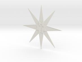 Heritage Logo in White Natural Versatile Plastic