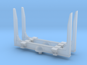1/160 N scale Log bunks, angle top in Smooth Fine Detail Plastic