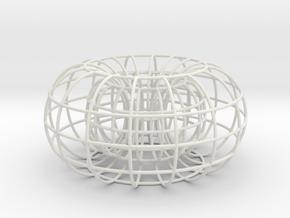 Torus small in White Natural Versatile Plastic