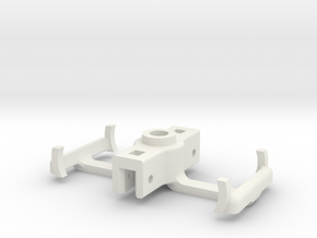 HOn3 D&RGW Truck bolster in White Strong & Flexible