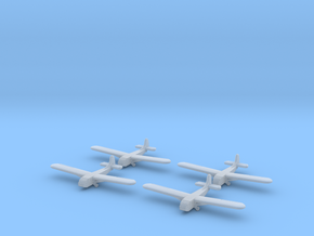 Waco Glider- 1/600 -(x4) in Smooth Fine Detail Plastic