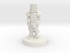 28mm Heroic Scale Space Cossack Commander in White Natural Versatile Plastic