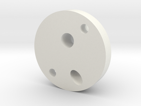 OilPipeJunctionBlock in White Natural Versatile Plastic