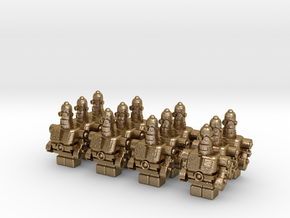 USB Robot's Army in Polished Gold Steel