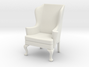 1:24 Wing Chair 2 in White Natural Versatile Plastic
