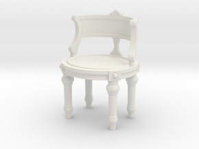 1:24 Vanity Chair in White Strong & Flexible