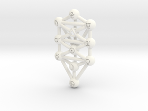 Sephirot (Tree of Life) Pendant in White Processed Versatile Plastic