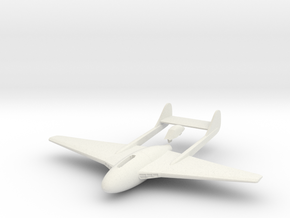 Aircraft-  DH 100 Vampire Mk III (1/144th) in White Natural Versatile Plastic