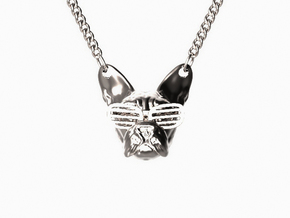 French Bulldog Pendant in Polished Silver