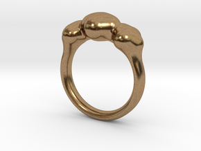 Push Ring - Size 6.25 in Natural Brass
