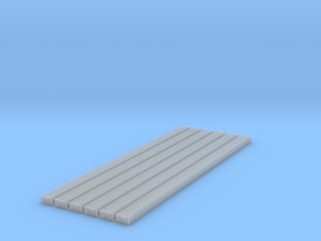 Small 8 Hole tieplate - O Scale - 450 count in Smooth Fine Detail Plastic