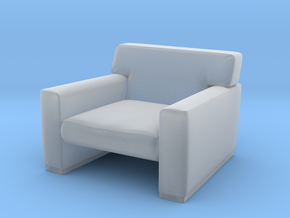 1:10 Scale Model - ArmChair 05 in Smooth Fine Detail Plastic