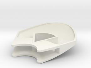 Upper shell in White Natural Versatile Plastic