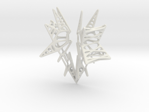 Lattice wing for shapeways in White Natural Versatile Plastic