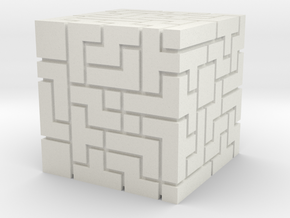 Master Cube (FEZ) in White Strong & Flexible
