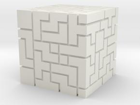 Master Cube (FEZ) in White Natural Versatile Plastic