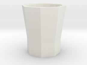 S1-222   Papierkorb Schleuderbeton 8eckig in White Natural Versatile Plastic