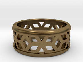 Muster Ring in Natural Bronze