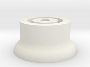 Folding GPS Bolt Mount in White Natural Versatile Plastic