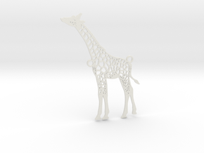 Wildlife Treasures - Giraffe in White Strong & Flexible