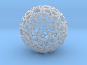 Islamic star ball with ten-pointed rosettes in Smooth Fine Detail Plastic