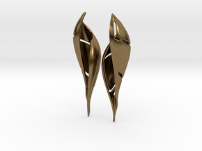 Signa Curve Earrings. in Natural Bronze