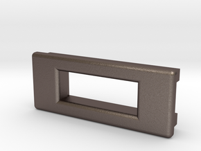 Screen Cradle - Rectangle with Filet Edges in Polished Bronzed Silver Steel