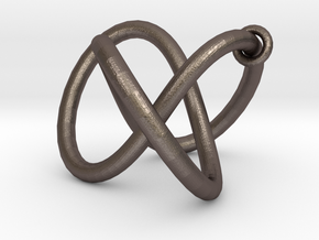 Endless movement - all materials in Polished Bronzed Silver Steel