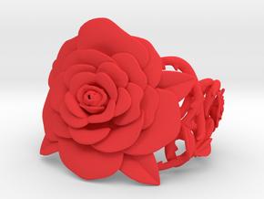 Rose Bracelet in Red Processed Versatile Plastic