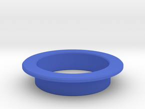 Pinball Start Button Dress Ring - Large Lip in Blue Processed Versatile Plastic