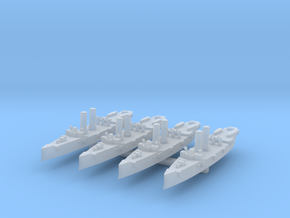 USS Montgomery (1890) 1:3000 x4 in Smooth Fine Detail Plastic