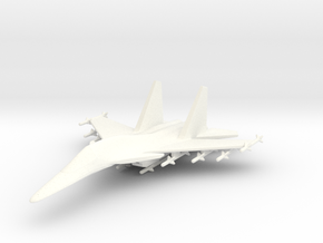1/285 (6mm) SU-34 Aircraft in White Strong & Flexible Polished