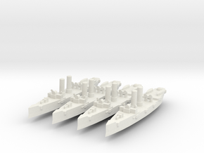 USS Montgomery (1890) 1:2400 x4 in White Strong & Flexible